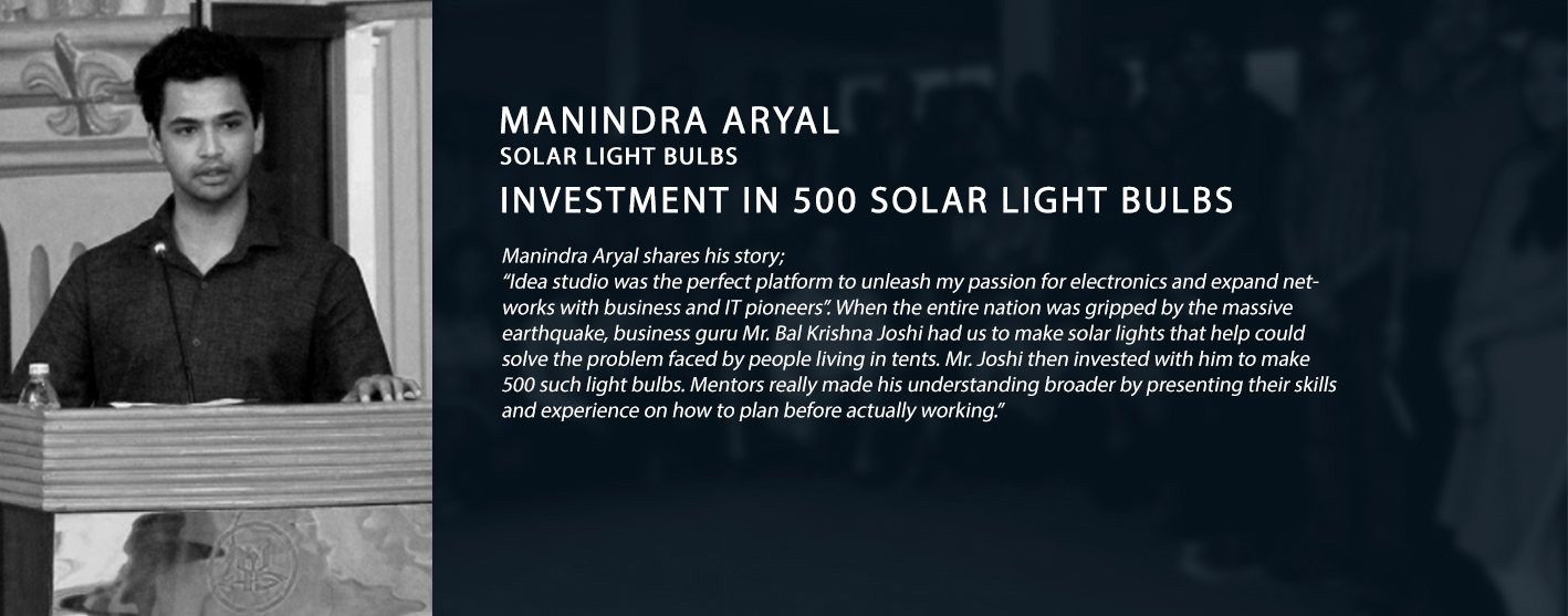 success story mahindra aryal solar light bulbs 500 solar light bulbs idea studio nepal