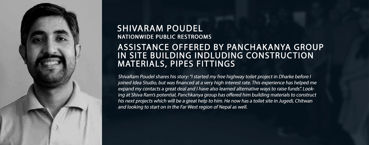shivaram poudel nationwide public restrooms assist panchakanya group site building construction materials pipes fittings idea studio nepal success stories