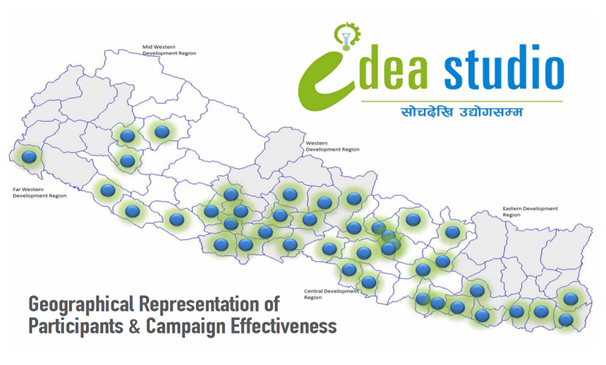 geographical representation idea studio participants and campaign effectiveness